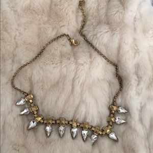Matte gold statement crystal necklace W/ Free gift